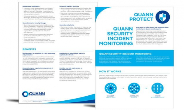 Quann Protect – security incident monitoring