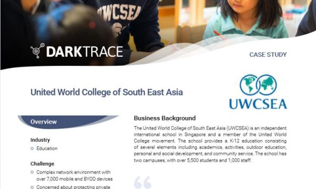 UWCSEA deploys Enterprise Immune System to protect campus network