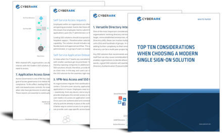 Top 10 considerations when choosing a modern single sign-on solution
