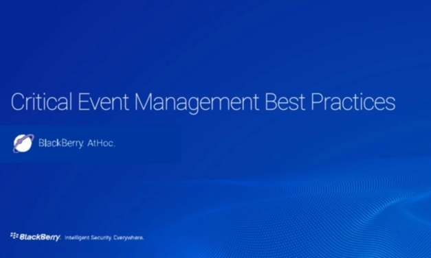 Webinar: Best practices for critical event management
